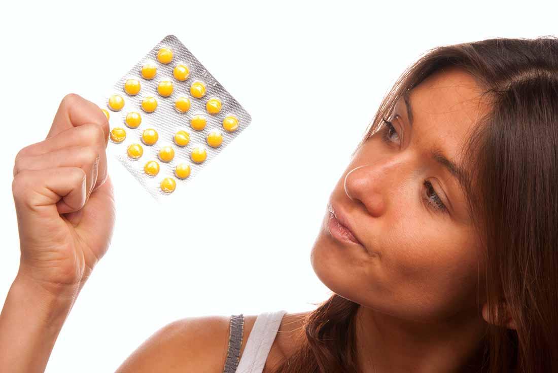 Приём таблеток