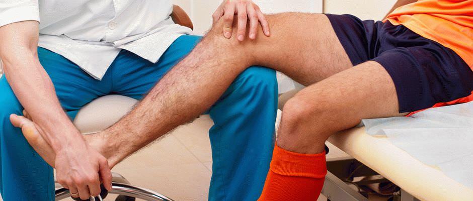 Массаж коленного сустава при бурсите