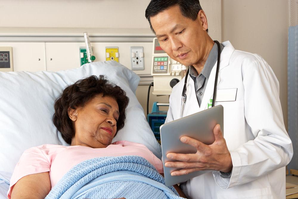 В больничной палате